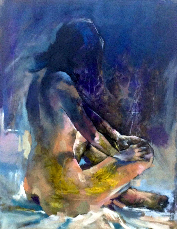 nude study purple 2
